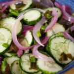 Cucumber-Alaria Salad